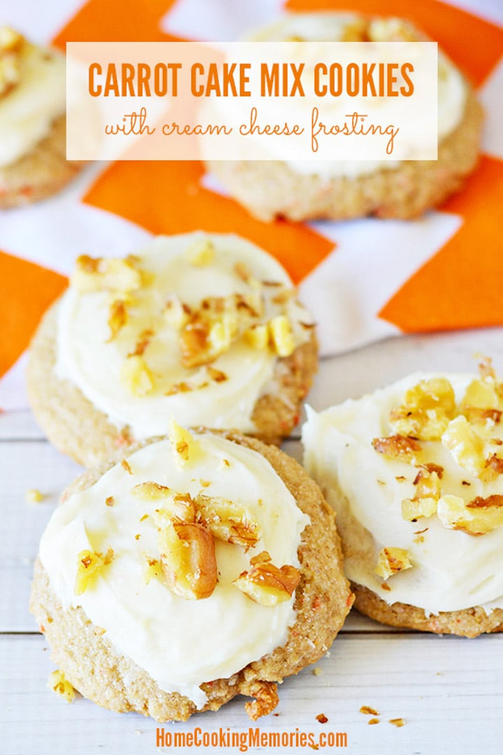 Carrot Cake Cookies From Box Mix