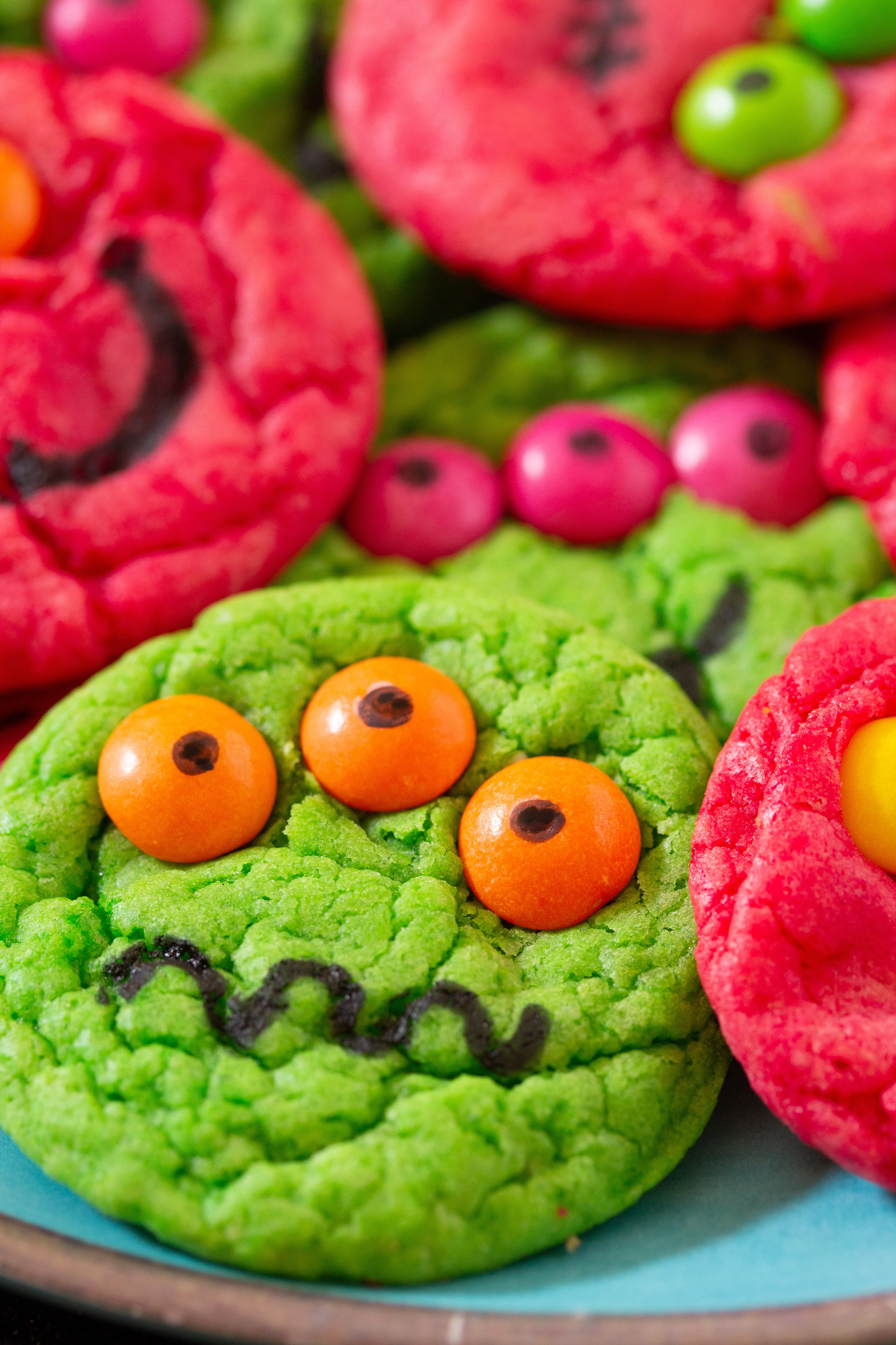 six ingredient cake mix halloween cookies