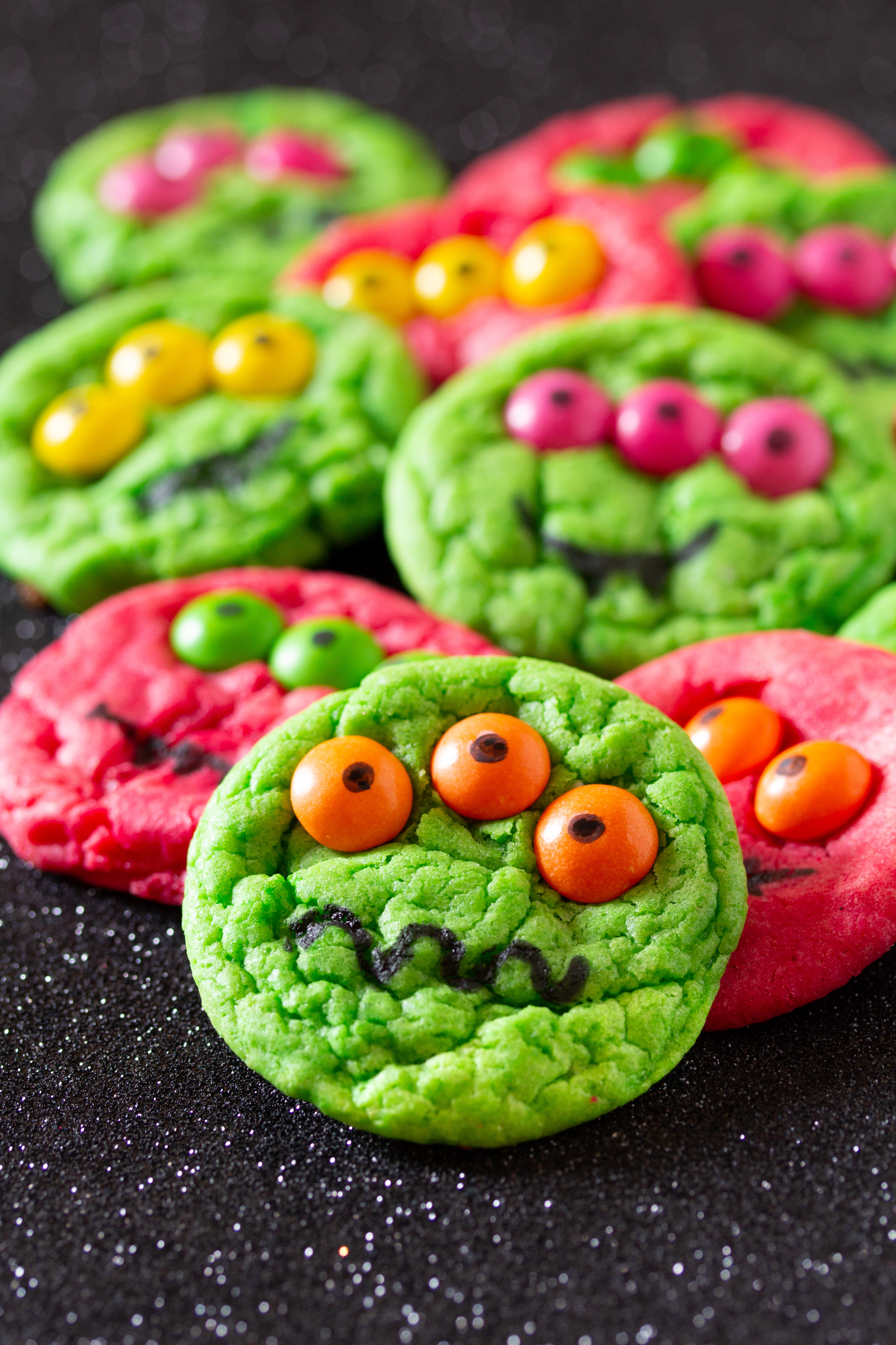 six ingredient halloween monster cookies