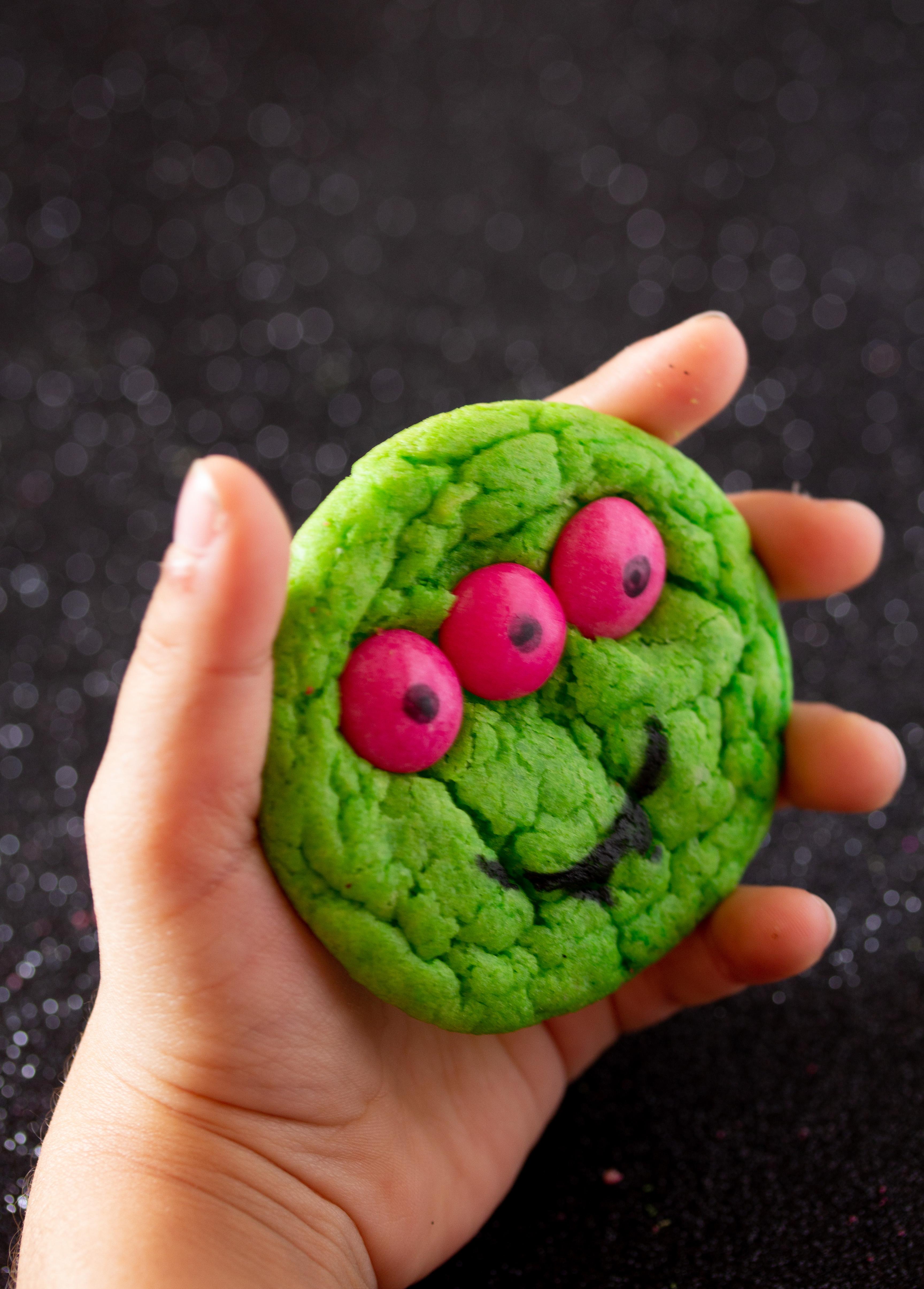 Halloween Monster Cookies for kids