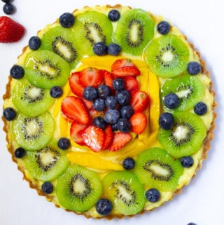 Summer Fruit Custard Tart