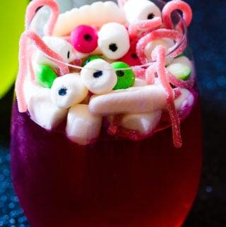 Red Spooky Halloween Jello