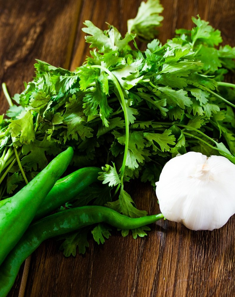 Indian Green Chutney Ingredients