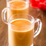 Karak Chai made with evaporated milk