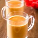 Karak Chai made with evaporated milk