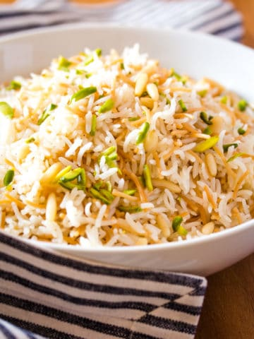 Lebanese Rice Pilaf with Vermicelli