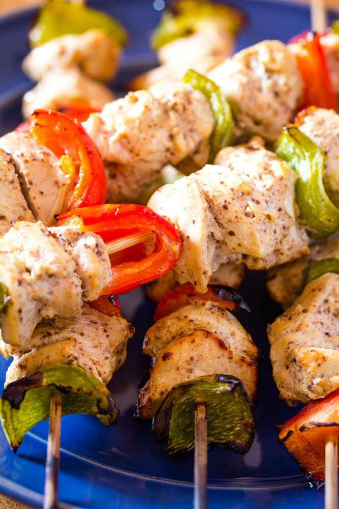 Shish Tawook Lebanese Grilled Chicken On Skewers Step By Step