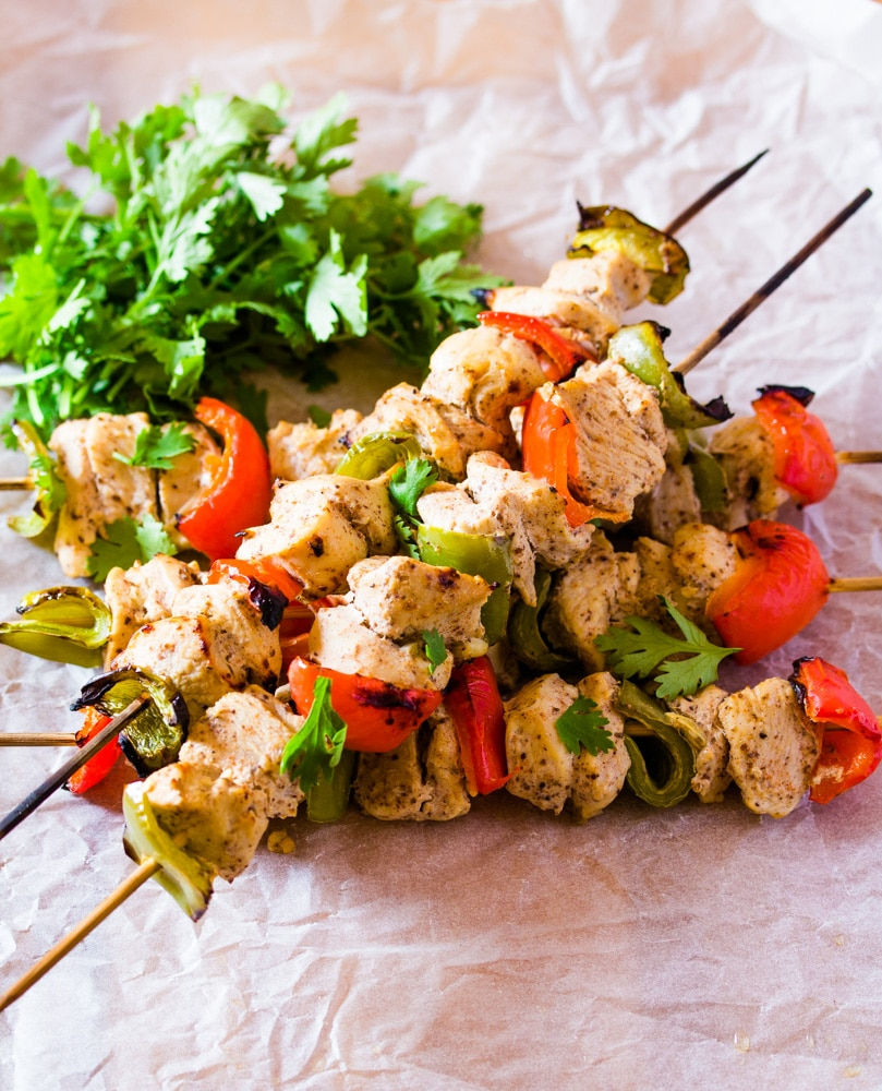 Lebanese Shish Tawook Chicken on Skewers