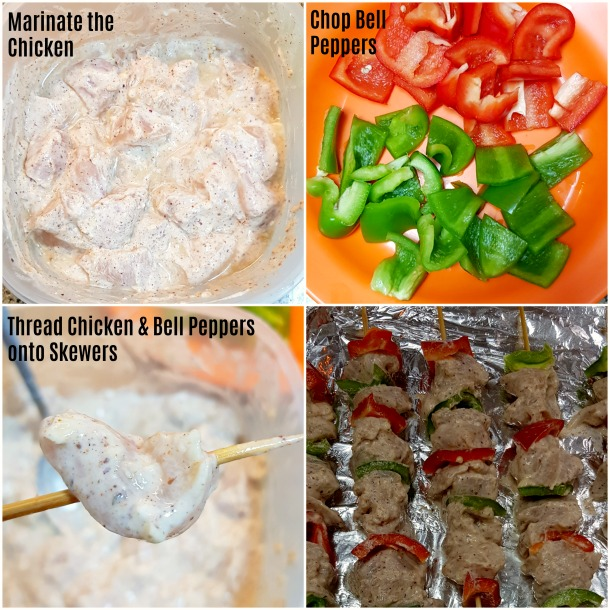 Shish Tawook Step by Step Photos