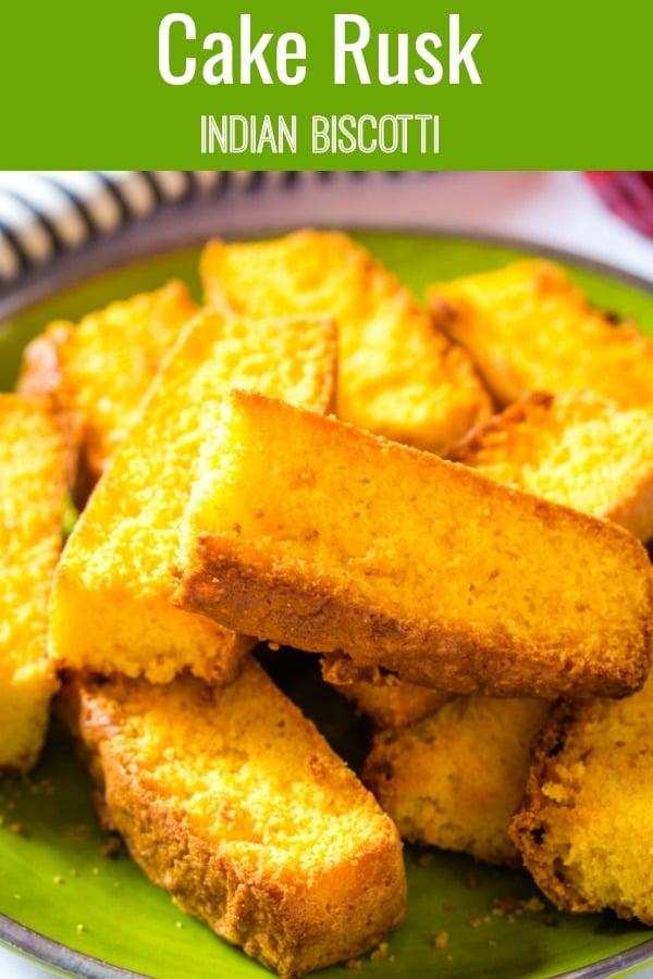 Cake Rusk Indian Biscotti