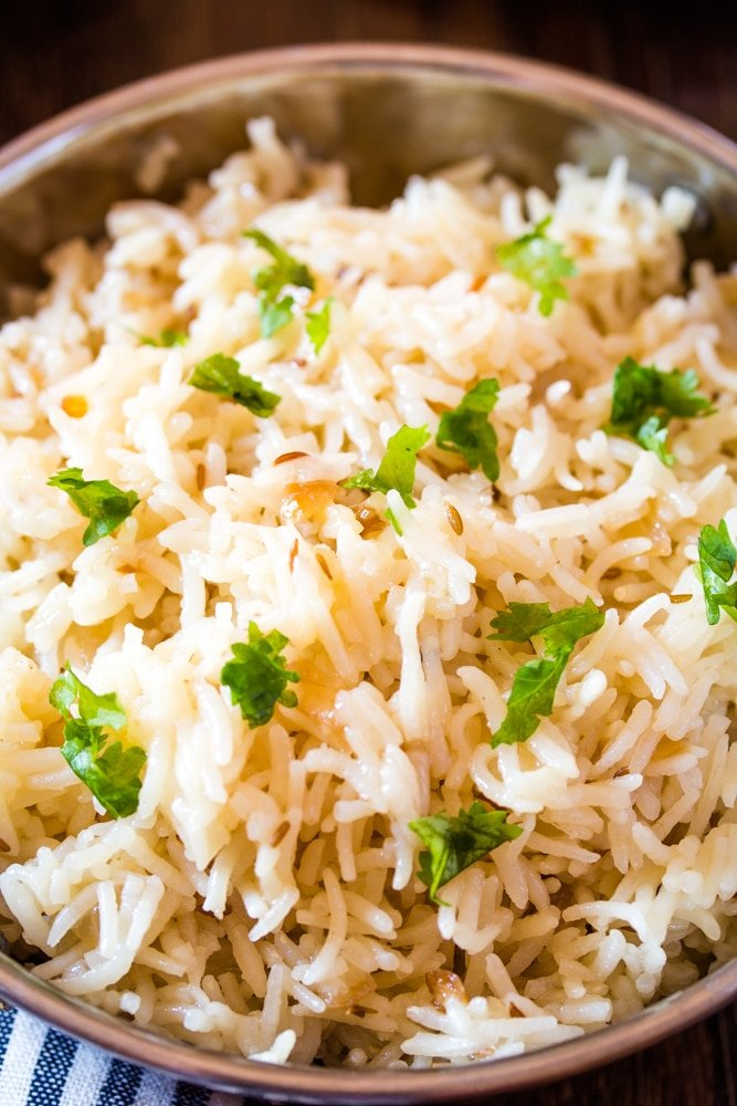 Three Ingredient Jeera Rice