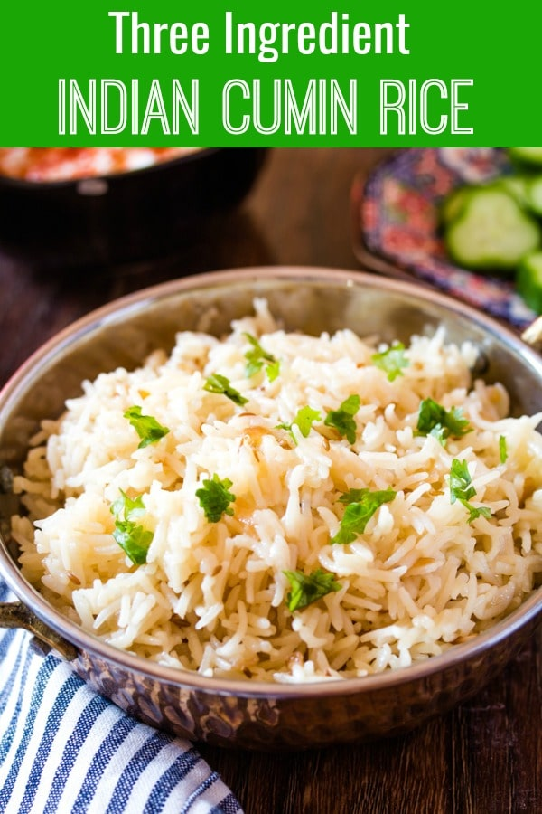 Three Ingredient Indian Cumin Rice