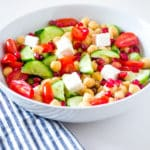 Garbanzo Bean Salad – with a Greek Lemon Dressing