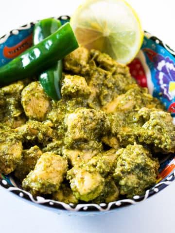 Hariyali Chicken - Green Chicken Curry