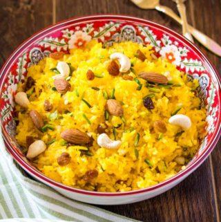 Zarda Recipe Meethe Chawal