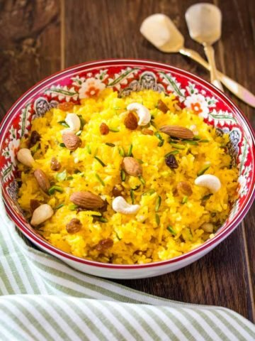 Zarda Rice Recipe (Meethe Chawal)