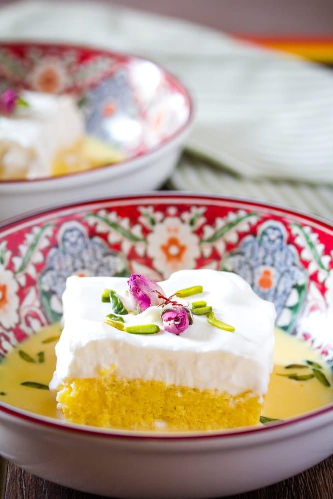 kuwaiti saffron cake