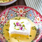 easy saffron milk cake
