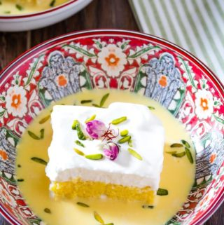 easy saffron milk cake