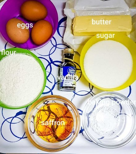 saffron milk cake ingredients