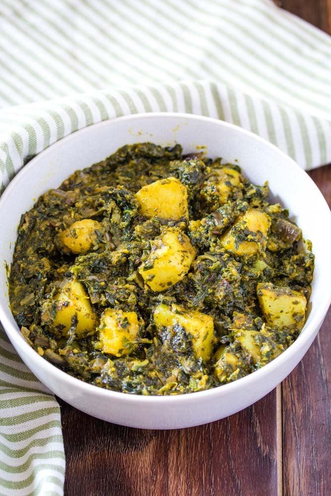 Easy Palak Aloo Recipe