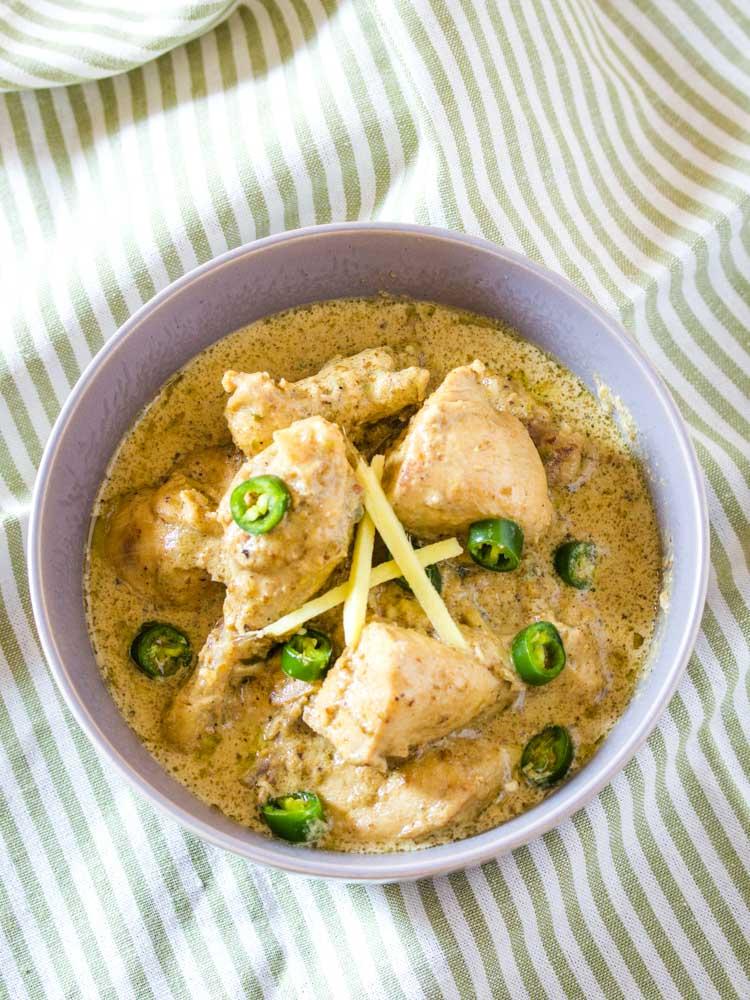 pakistani white chicken karahi