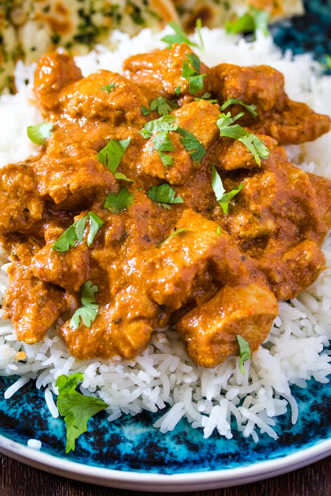 close up of chicken tikka masala made in the instant pot