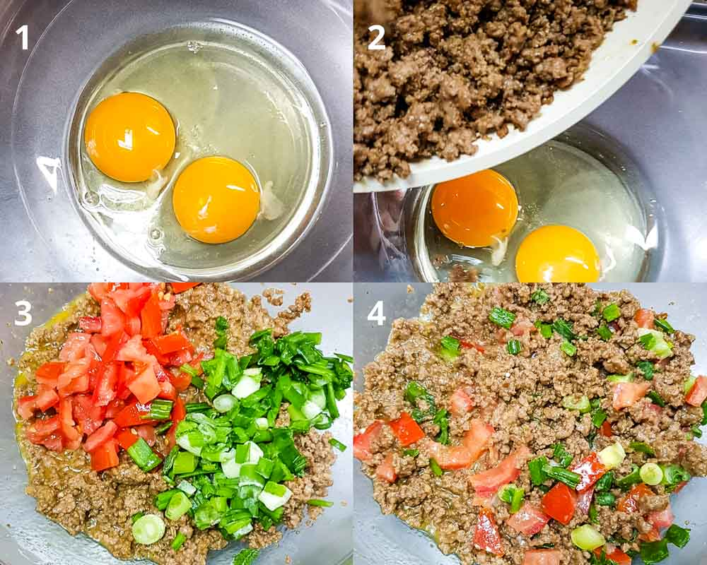 how to make meat filling for mutabbaq