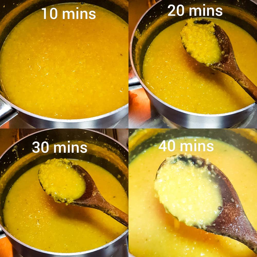 cooking process of daal