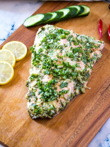 Lemon Garlic Butter Salmon (Baked)