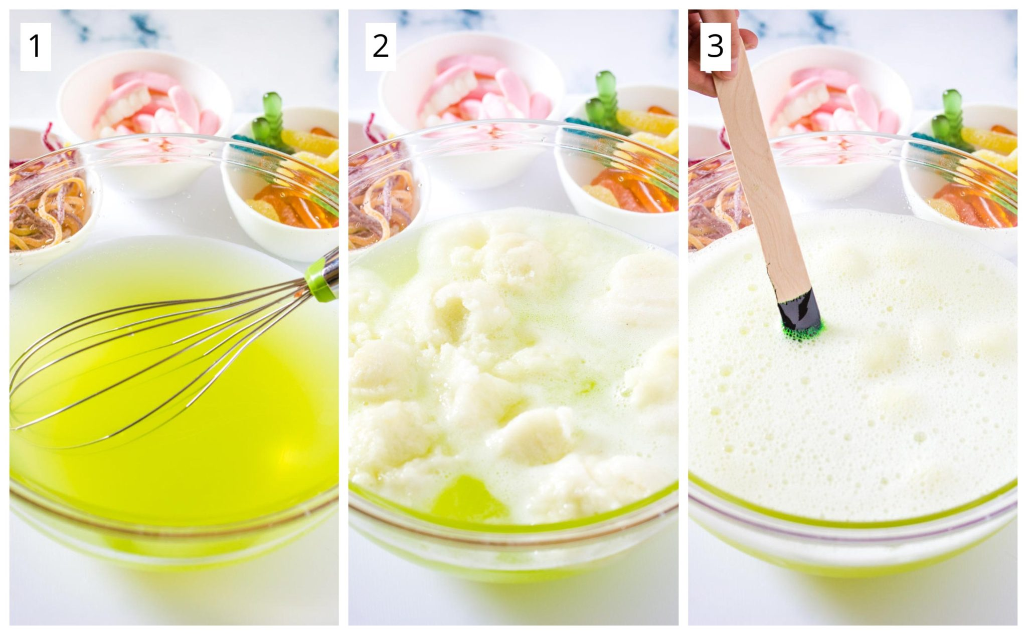 Step by step photos on how to make polyjuice potion
