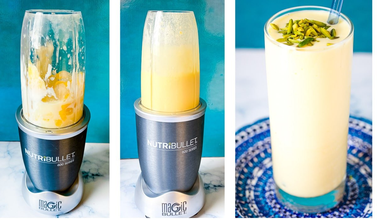 step by step pictures of the mango lassi recipe