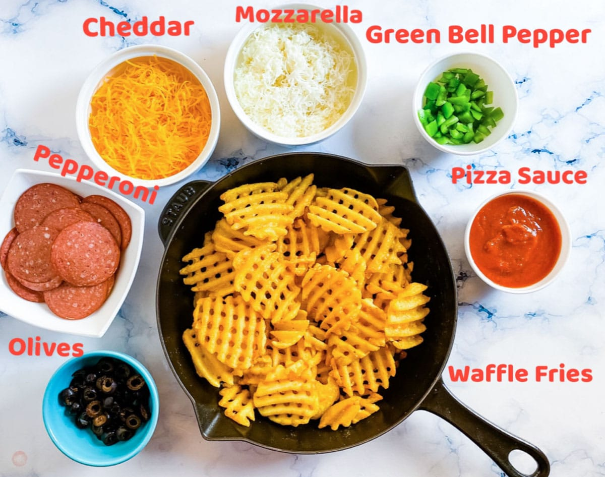 ingredients for pizza fries