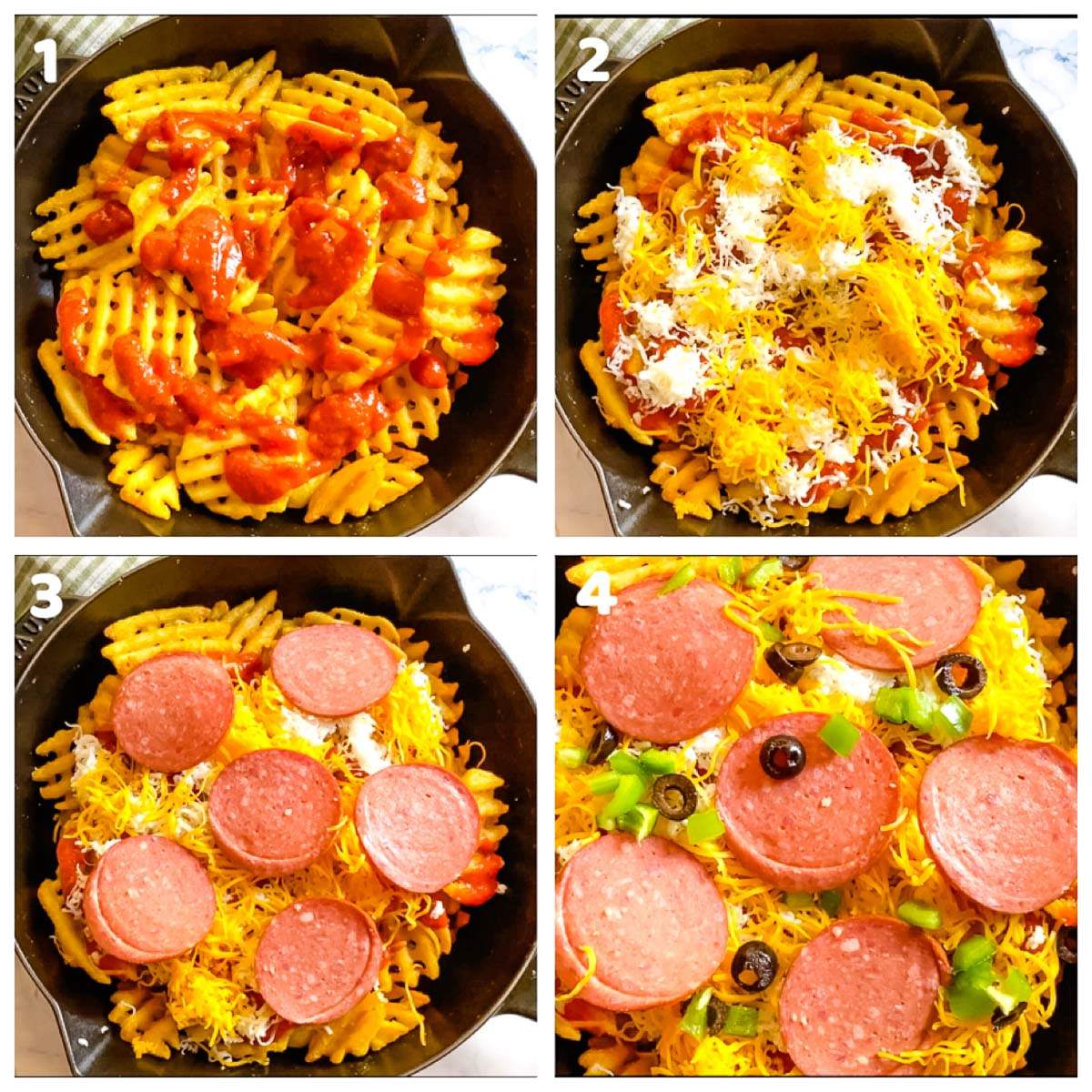 step by step photos for pizza fries