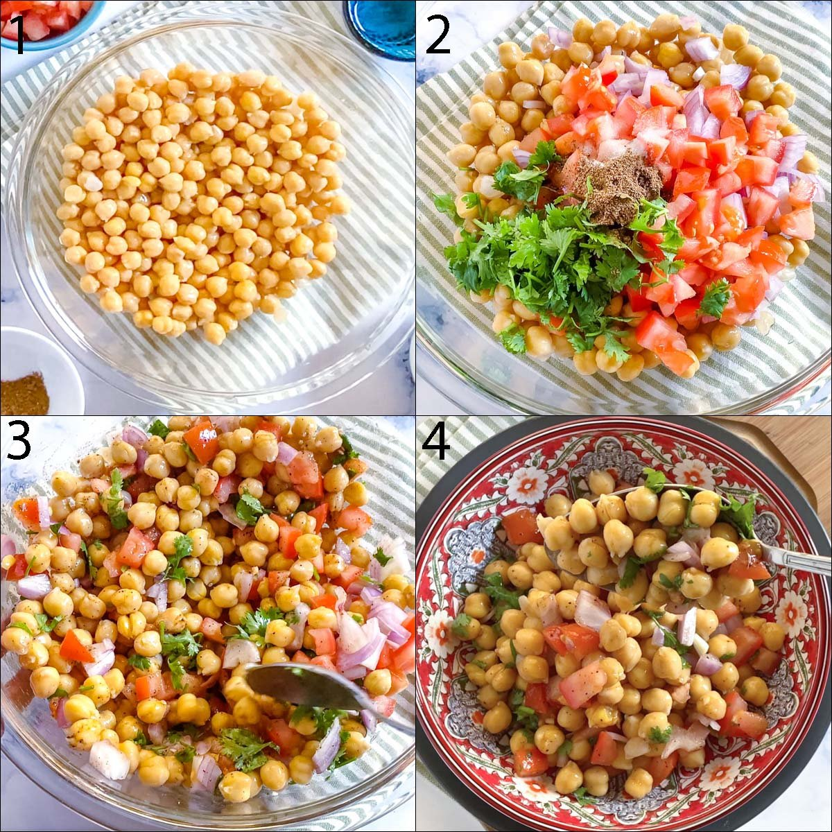 step by step photos of how to make chana chaat