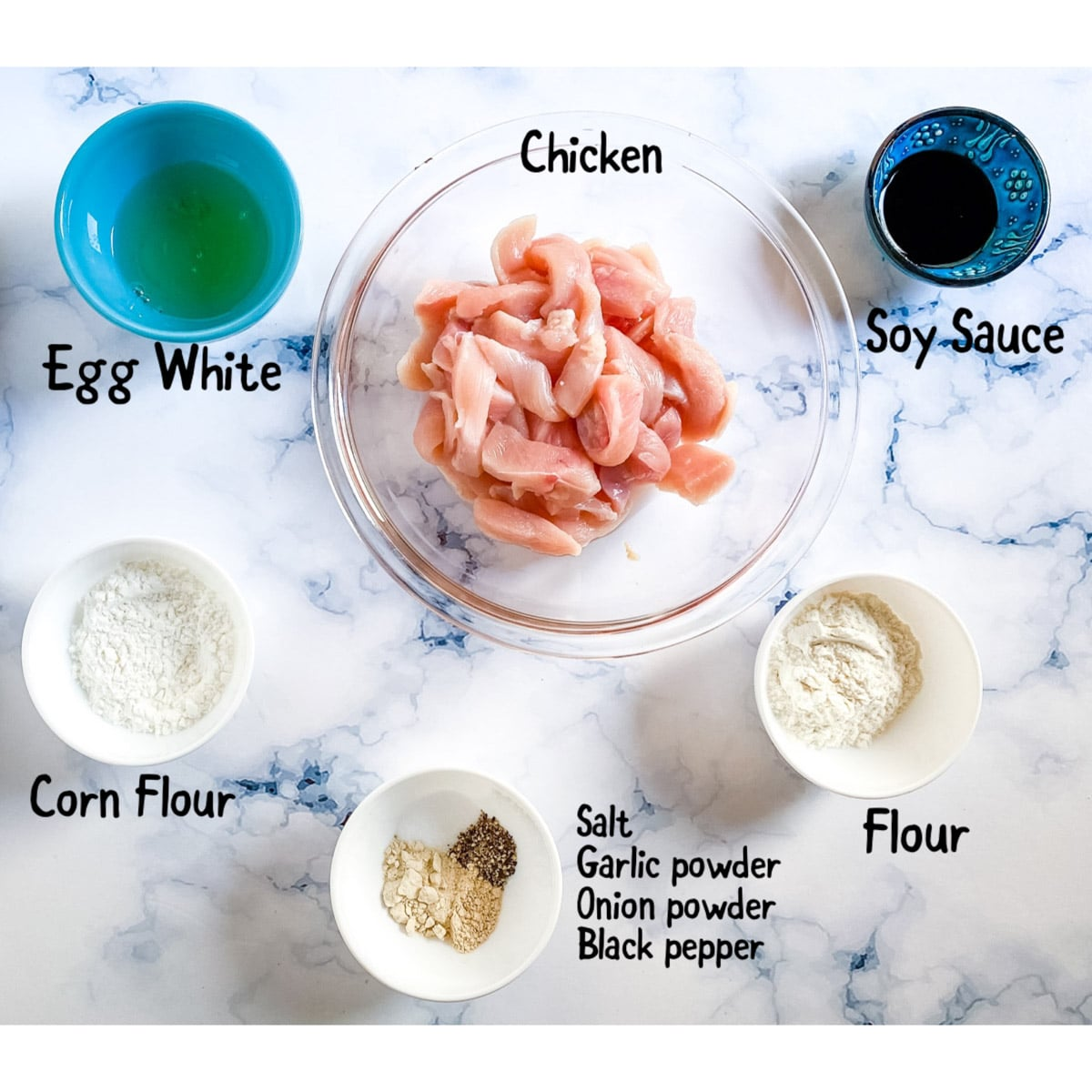 ingredients needed for the fried chicken