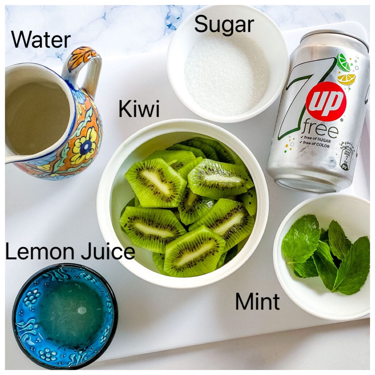 a picture of kiwi juice ingredients